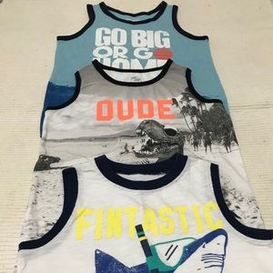 3 excellent condition boys tank tops